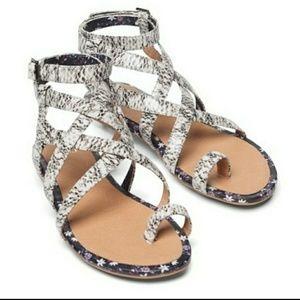 """CAbi """"Athena"""" Snakeskin Gladiator Sandal"""